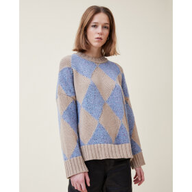 lovechild-1979- - Mateo Check Knit Heritage Blue
