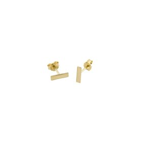 Trois petits points - Gourmette earrings, messing