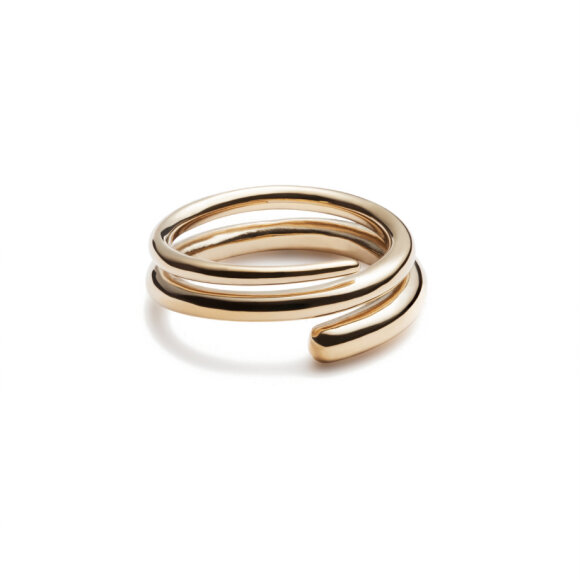 Trine Tuxen - Spiral Ring III Goldplated