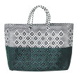 Truss - Large Tote Two Color Green WHT