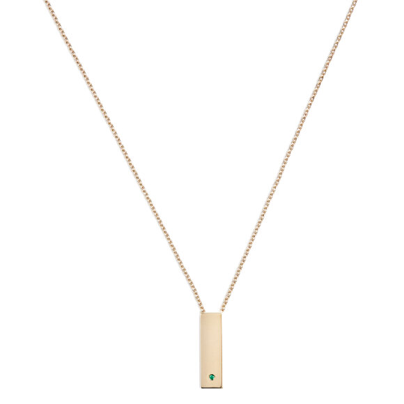 Trine Tuxen - Step Emerald Necklace Goldplated