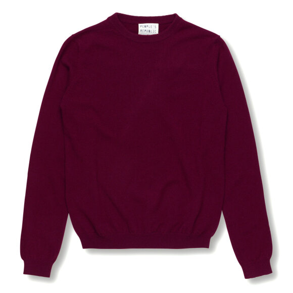 Peoples republic of cashmere - Womens Roundneck Burgundy